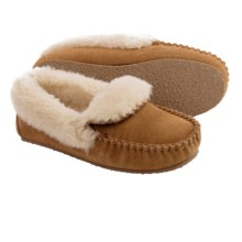 Minnetonka Brina Moccasins (For Little and Big Girls) in Cinnamon - Closeouts