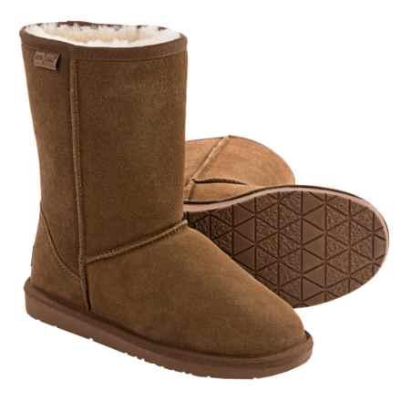 Minnetonka Callahan Short Boots - Sheepskin Lined (For Women) in Tan - Closeouts