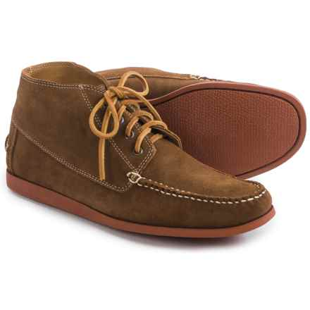Minnetonka Camp Chukka Boots - Suede (For Men) in Dark Brown - Closeouts