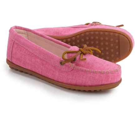 Minnetonka Canvas Moccasins (For Women) in Pink - Closeouts