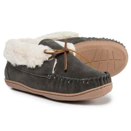 Minnetonka Judy Junior Bootie Slippers (For Women) in Charcoal - Closeouts