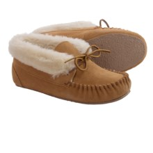 Minnetonka Junior Tie Bootie Slippers (For Women) in Cinnamon - Closeouts