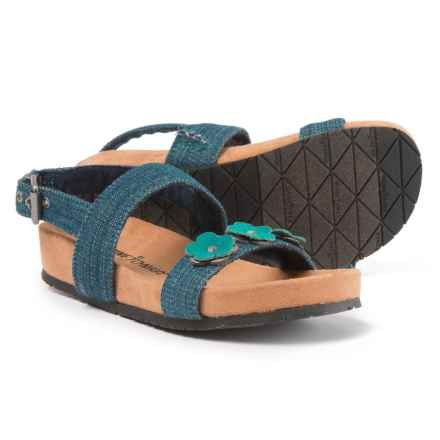 Minnetonka Moccasin Harmony Sandals (For Girls) in Blue Denim - Closeouts
