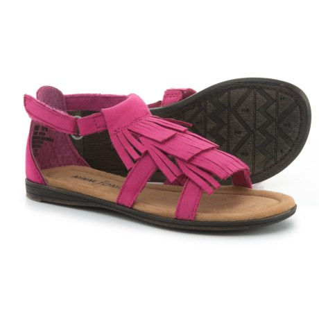 Minnetonka Moccasin Maya Sandals (For Girls) in Hot Pink