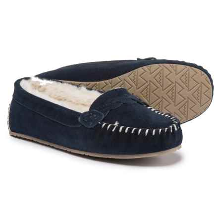 Minnetonka Moccasin Minnetonka Blakely Braided Slippers (For Women) in Dark Navy - Closeouts