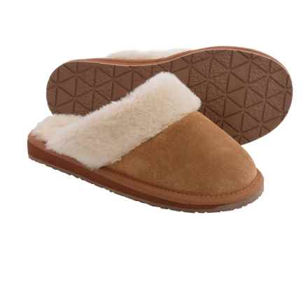 Minnetonka Moccasin Minnetonka Selma Scuff Slippers (For Women) in Cinnamon - Closeouts