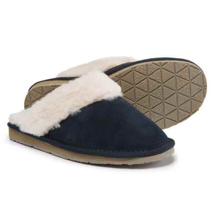 Minnetonka Moccasin Minnetonka Selma Scuff Slippers (For Women) in Dark Navy - Closeouts