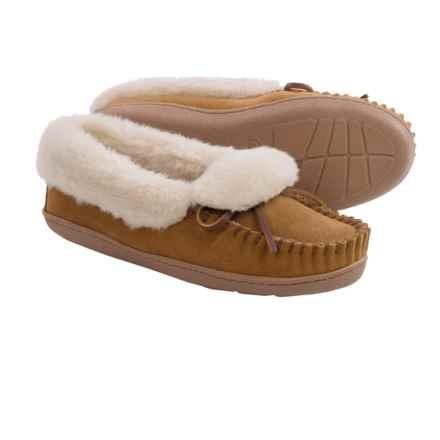 Minnetonka Moccasin Minnetonka Tracy Folded Trapper Slippers (For Women) in Cinnamon - Closeouts
