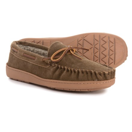 0cfcd9ec23676 Minnetonka Moccasin Minnetonka Tyson Traditional Trapper Moccasins (For  Men) in Autumn Brown - Closeouts