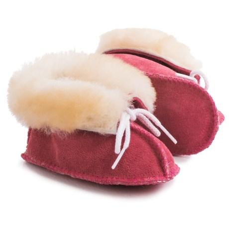 Minnetonka Moccasin Sheepskin Booties - Suede (For Infants)
