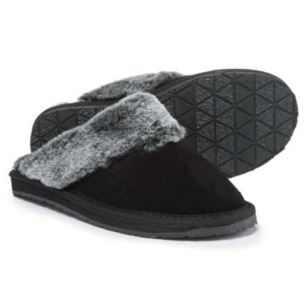 Minnetonka Selma II Scuff Slippers (For Women) in Black - Closeouts