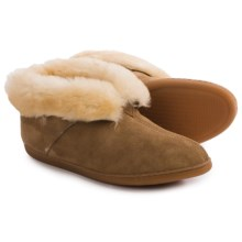 Minnetonka Sheepskin Ankle Boot Slippers (For Men) in Golden Tan - Closeouts
