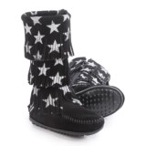 Minnetonka Star Boots - Suede (For Toddlers)