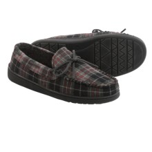 Minnetonka Todd Plaid Trapper Moccasins (For Men) in Black - Closeouts