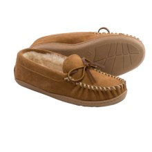 Minnetonka Trapper Slippers - Shearling Lined (For Women) in Cinnamon - Closeouts