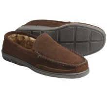 Minnetonka Venetian Slippers - Suede (For Men) in Root Beer - Closeouts
