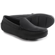 Minnetonka Venice Driving Moccasins - Leather (For Men) in Black - Closeouts