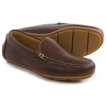 Minnetonka Venice Driving Moccasins - Leather (For Men) in Dark Brown - Closeouts
