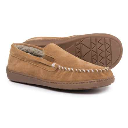 Minnetonka Vincent Venetian Slippers - Suede (For Men) in Cinnamon - Closeouts