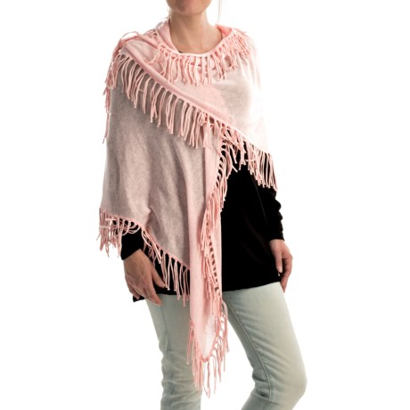 Minnie Rose Fringe Shawl Cotton (For Women)