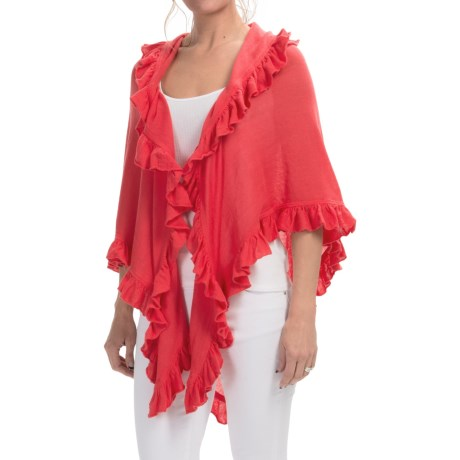 Minnie Rose Ruffled Shawl 80x40 (For Women)