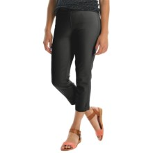 Miraclebody by Miraclesuit Crop Leggings - Stretch Cotton (For Women) in Black - Overstock