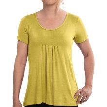 Miraclebody by Miraclesuit Pintuck Tunic Shirt - Short Sleeve (For Women) in Yellow - Closeouts