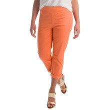 Miraclebody by Miraclesuit Randi Stretch Crop Pants (For Women) in Tangerine - Overstock