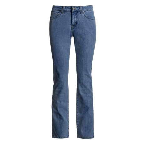 Miraclebody Katie Classic Pocket Mid Rise Straight Leg Jean (For Women) in Montego Blue