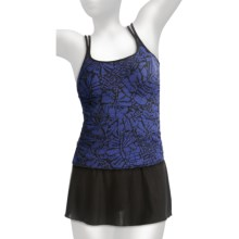 Miraclesuit Avalon Tankini Swimsuit - 2-Piece, Skirted Bottoms (For Women) in Hibiscus Batik Blue - Closeouts