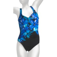 Miraclesuit Budding Beauty Amici Swimsuit - 1-Piece, Underwire (For Women) in Blue - Closeouts