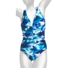 Miraclesuit Different Strokes Sonatina Swimsuit - 1-Piece (For Women) in Blue - Closeouts