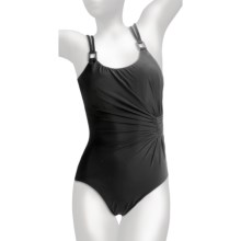 Miraclesuit Lisa Jane One-Piece Swimsuit - Underwire (For Women) in Black - Closeouts