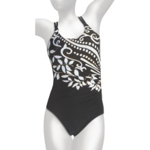Miraclesuit Mixed Up Hamden Swimsuit - 1-Piece, Underwire (For Women) in Black/White - Closeouts
