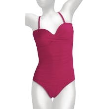 Miraclesuit Must Haves Barcelona Swimsuit - 1-Piece, Removable Straps (For Women) in Berry - Closeouts