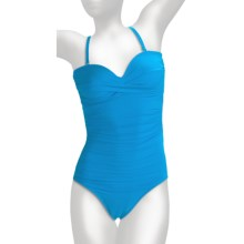 Miraclesuit Must Haves Barcelona Swimsuit - 1-Piece, Removable Straps (For Women) in Turquoise - Closeouts