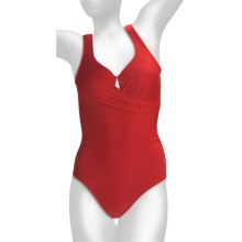 Miraclesuit Must Haves Escape Swimsuit - Sweetheart Neck (For Women) in Crimson - Closeouts