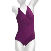 Miraclesuit Must Haves Oceanus Swimsuit - 1-Piece (For Women) in Plum - Closeouts