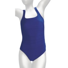 Miraclesuit Must Haves Sideswipe Swimsuit - One-Piece (For Women) in Electric Blue - Closeouts