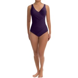 Miraclesuit Oceanus One-Piece Swimsuit - Solid (For Women) in Blackberry