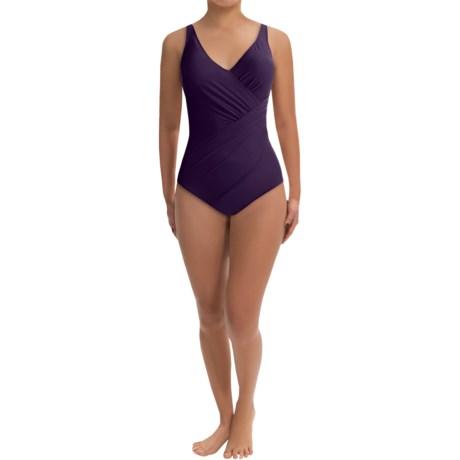 Miraclesuit Oceanus One-Piece Swimsuit - Solid (For Women) in Blackberry
