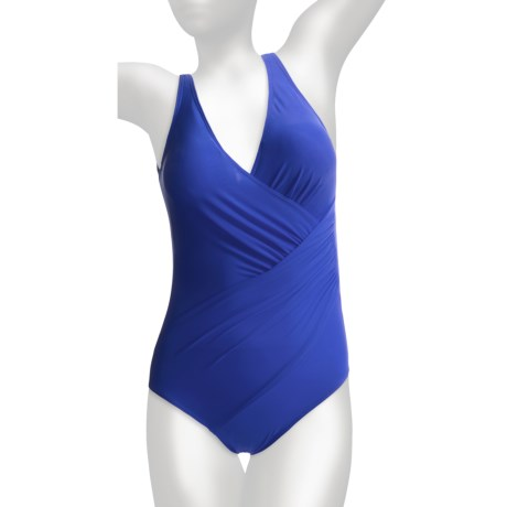 Miraclesuit Oceanus One-Piece Swimsuit - Solid (For Women) in Blue