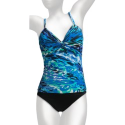Miraclesuit Roswell Tankini (For Women) in Blue Cool For Cats
