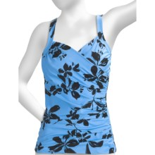 Miraclesuit Sanibel Garden Club Tankini Swimsuit Top - Underwire (For Women) in Periwinkle - Closeouts
