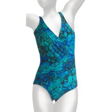Miraclesuit Scale Models Oceanus Swimsuit - V-Neck (For Women) in Blue - Closeouts