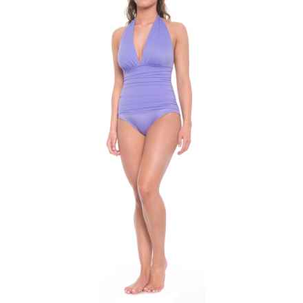 Miraclesuit Solid 17 Claudia One-Piece Swimsuit - Removable Padded Cups (For Women) in Lavender - Closeouts