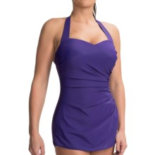 Miraclesuit Sweetheart Tunic Swimsuit - D Cup, Built-In Bra (For Women) in Wild Grape - Closeouts