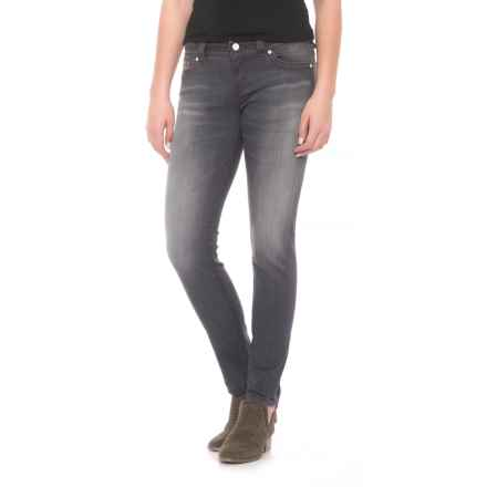 Miss Me Fitted Skinny Jeans - Mid Rise (For Women) in Dg 23 - Closeouts