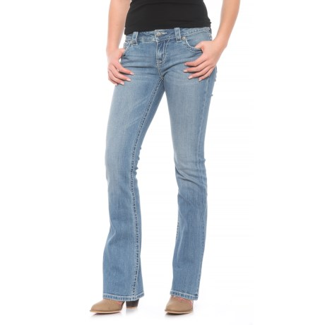 Miss Me Mid-Rise Bootcut Jeans (For Women) in Light Blue