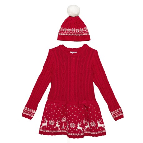 f76897d680 Miss Mona Mouse Cable-Knit Sweater Dress and Beanie Set - Long Sleeve (For